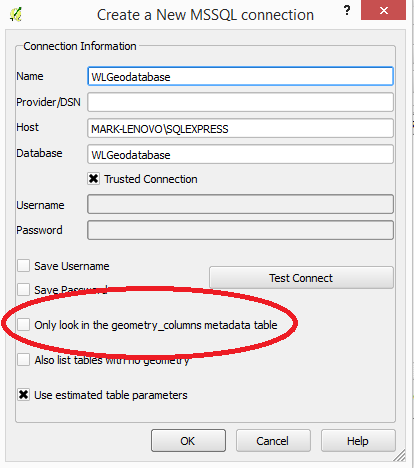 QGIS-SSMS-Connection