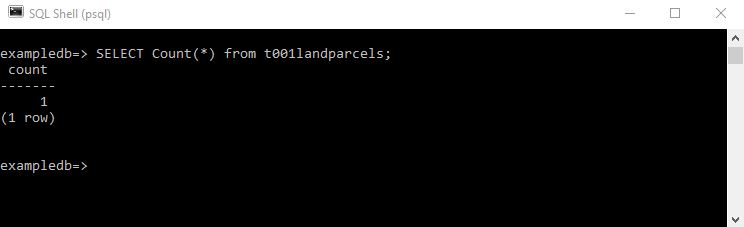 004 Postgres Command Line : psql : Create a spatially enabled table